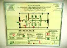 План эвакуации в алюминиевой рамке
