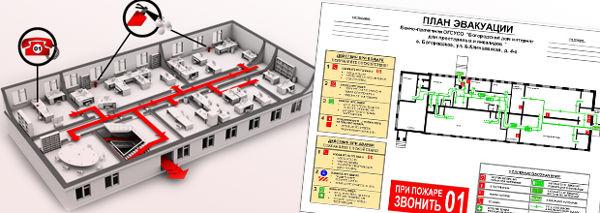 Исходные данные для заказа плана эвакуации